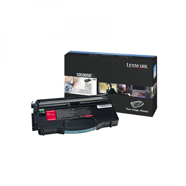Lexmark originální toner 12036SE, black, 2000str., Lexmark E120