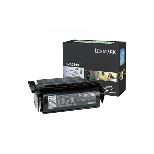 Lexmark originální toner 12A5849, black, 25000str., return, Lexmark Optra T, T610, T612, T614, T616