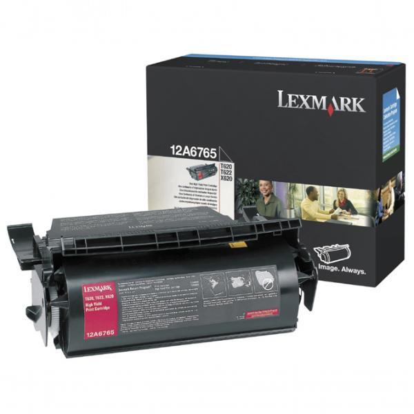 Lexmark originální toner 12A6765, black, 30000str., Lexmark T620, T622, X620e