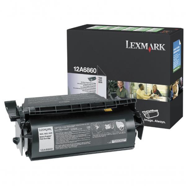 Lexmark originální toner 12A6860, black, 10000str., return, Lexmark T620, X620e, T622