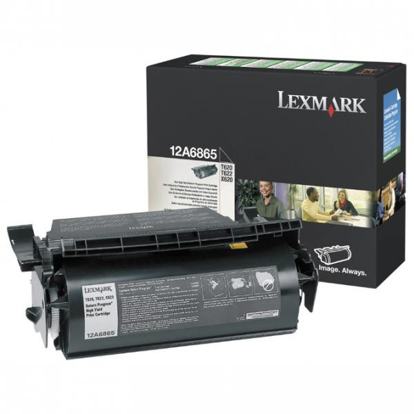Lexmark originální toner 12A6865, black, 30000str., return, Lexmark T620, X620e, T622