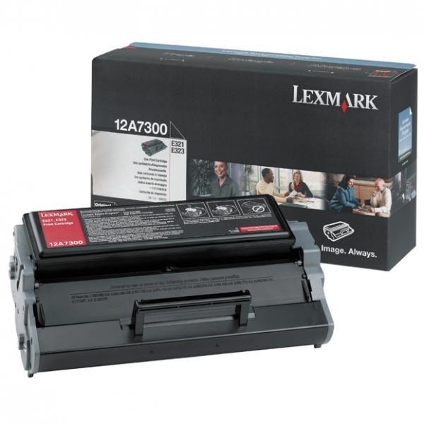 Lexmark originální toner 12A7300, black, 3000str., Lexmark E321, E323