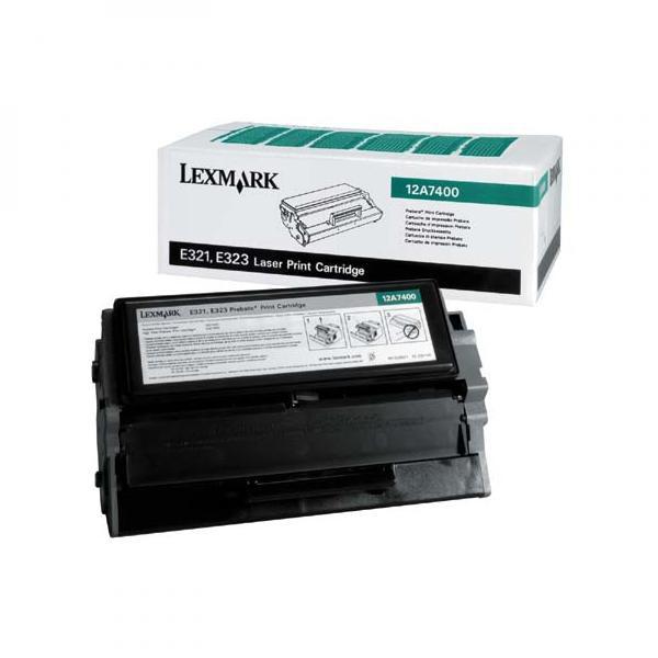 Lexmark originální toner 12A7400, black, 3000str., return, Lexmark E321, E323