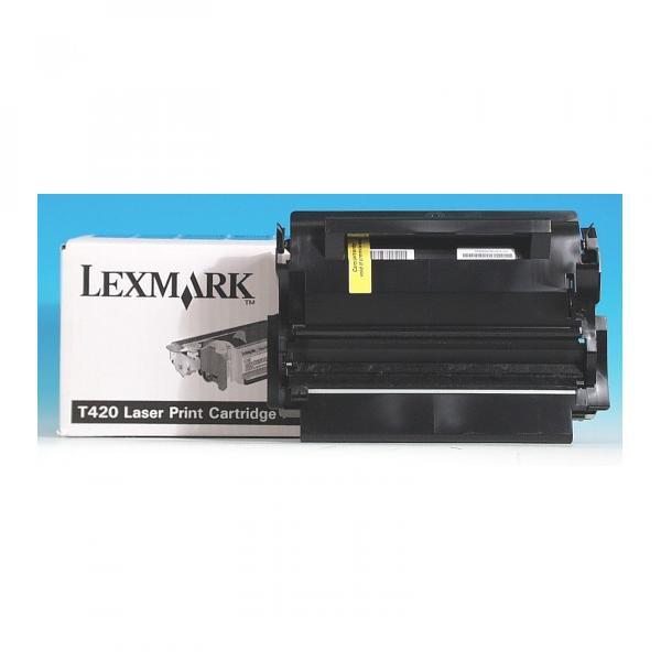 Lexmark originální toner 12A7415, black, 10000str., return, Lexmark T420