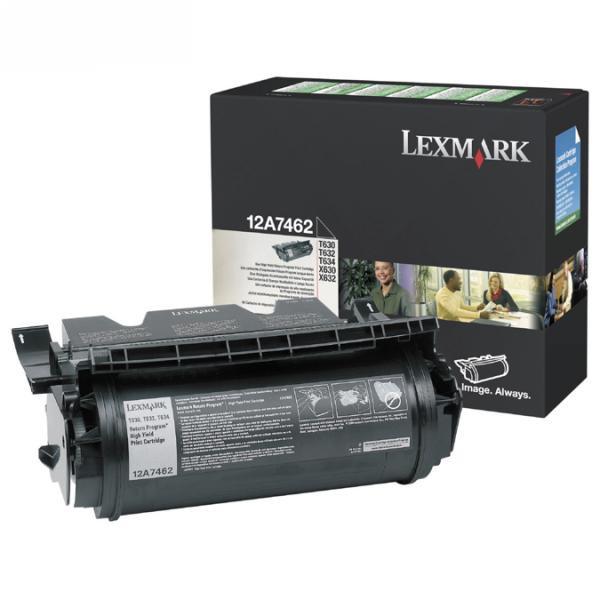 Lexmark originální toner 12A7462, black, 21000str., return, Lexmark T630, T632, T634, X630, X632e