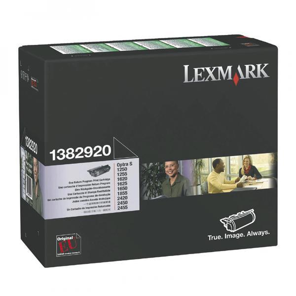 Lexmark originální toner 1382920, black, 7500str., return, Lexmark Optra S 1250, 1255, 1620, 1855, 2420, 2455
