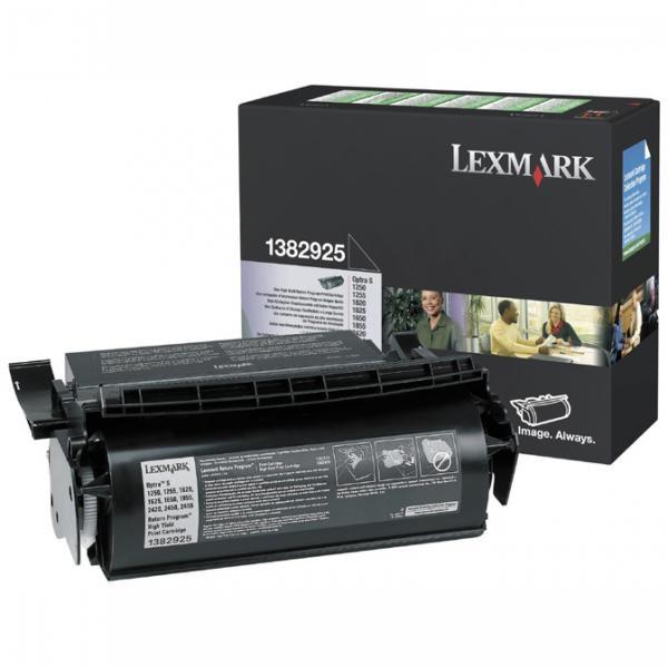 Lexmark originální toner 1382925, black, 17600str., return, Lexmark Optra S 1250, 1620, 1855, 2420