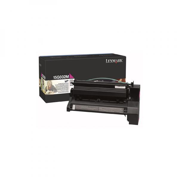 Lexmark originální toner 15G032M, magenta, 15000str., high capacity, Lexmark C752, C762, X752e, X762e