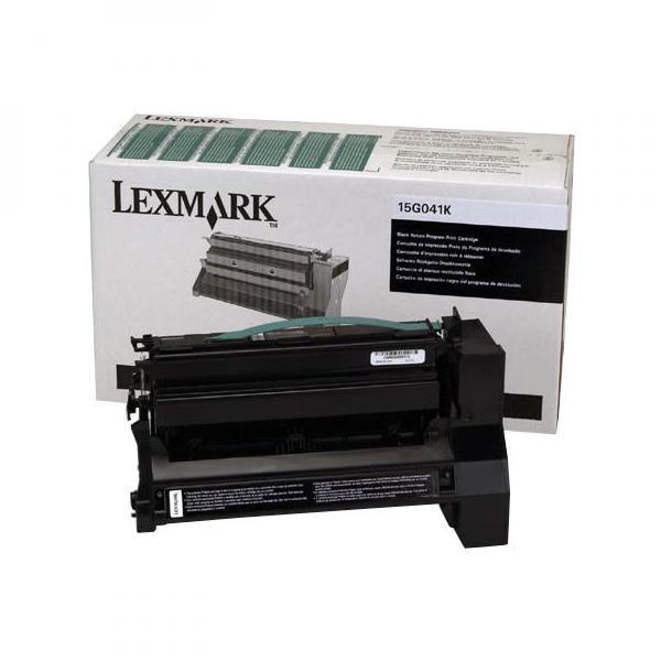 Lexmark originální toner 15G041K, black, 6000str., return, Lexmark C752, C76x