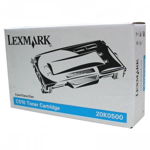 Lexmark originální toner 20K0500, cyan, 3000str., Lexmark C510