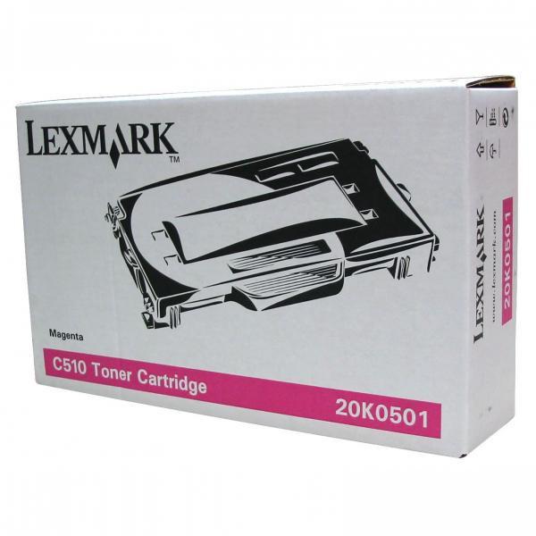 Lexmark originální toner 20K0501, magenta, 3000str., Lexmark C510