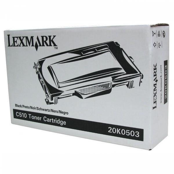 Lexmark originální toner 20K0503, black, 5000str., Lexmark C510
