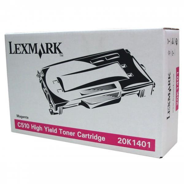 Lexmark originální toner 20K1401, magenta, 6600str., Lexmark C510