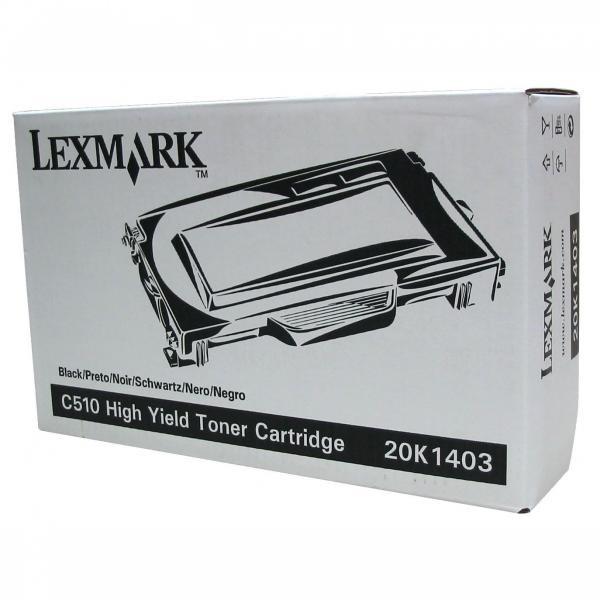 Lexmark originální toner 20K1403, black, 10000str., Lexmark C510