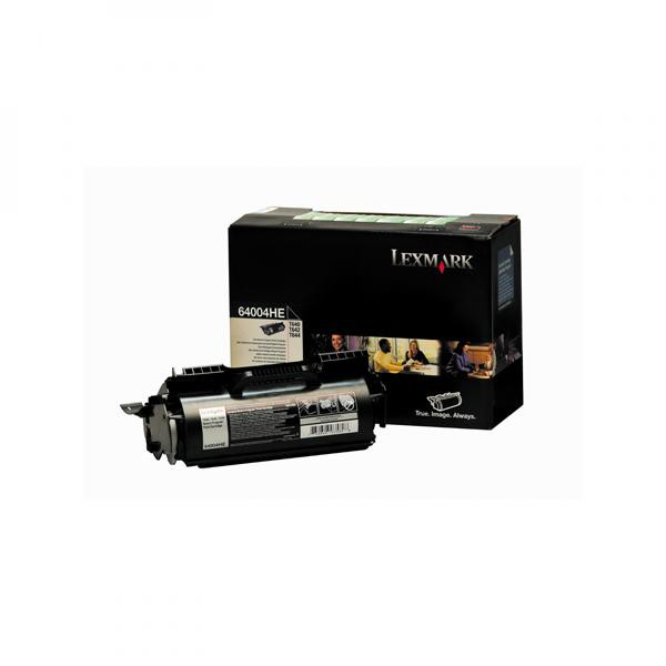 Lexmark originální toner 64004HE, black, 21000str., return, Lexmark T640, T642, T644, label applicat