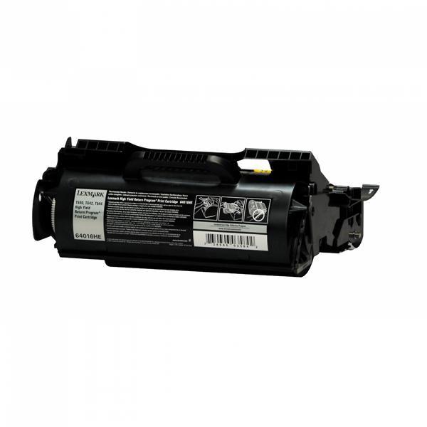 Lexmark originální toner 64016HE, black, 21000str., return, Lexmark T640, T642, T644