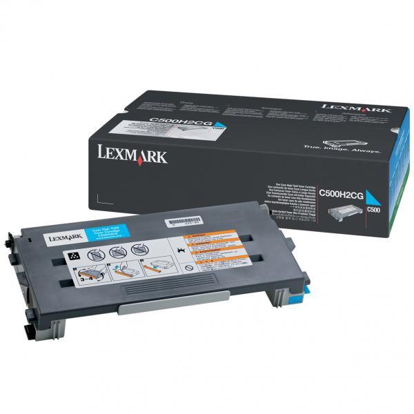 Lexmark originální toner C500H2CG, cyan, 3000str., return, Lexmark C500, X500