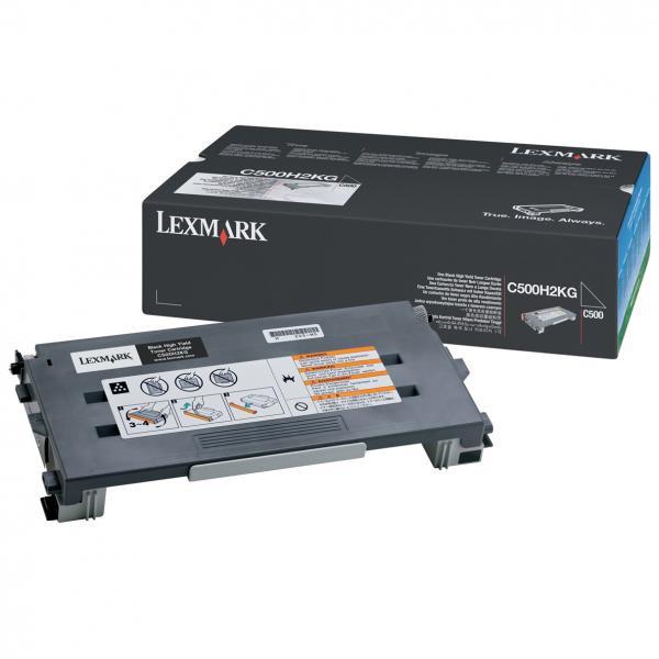 Lexmark originální toner C500H2KG, black, 5000str., return, Lexmark C500, X500