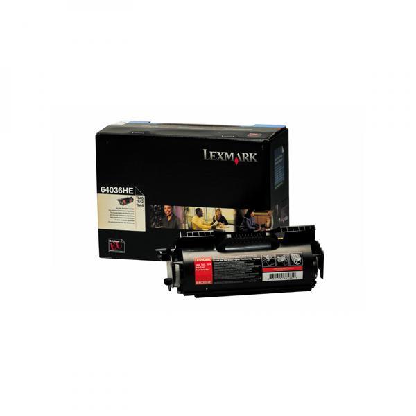 Lexmark originální toner 64036HE, black, 21000str., Lexmark T640, T642, T644