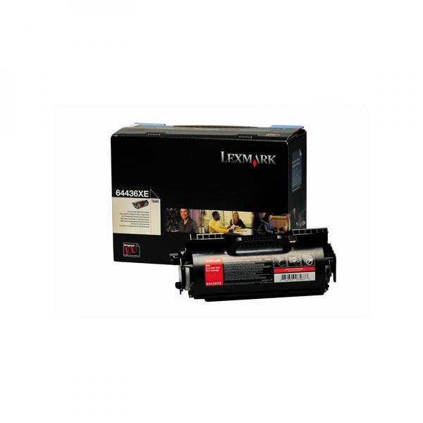 Lexmark originální toner 64436XE, black, 32000str., Lexmark T642
