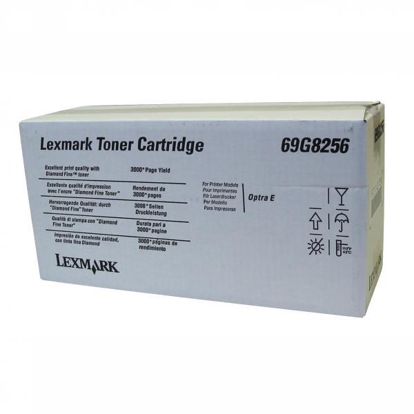 Lexmark originální toner 69G8256, black, 3000str., Lexmark Optra E, E+, ES, 4026
