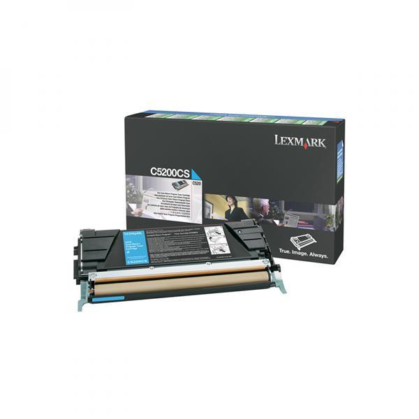 Lexmark originální toner C5200CS, cyan, 1500str., return, Lexmark C530