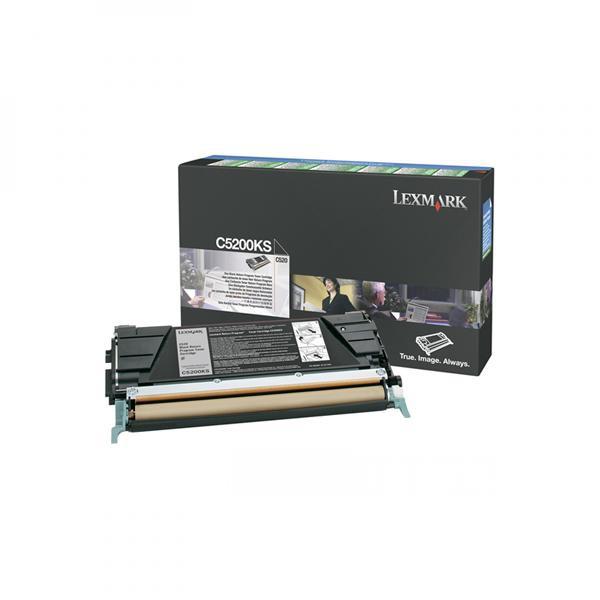 Lexmark originální toner C5200KS, black, 1500str., return, Lexmark C530