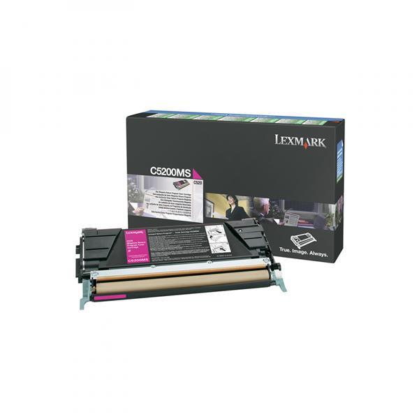 Lexmark originální toner C5200MS, magenta, 1500str., return, Lexmark C530