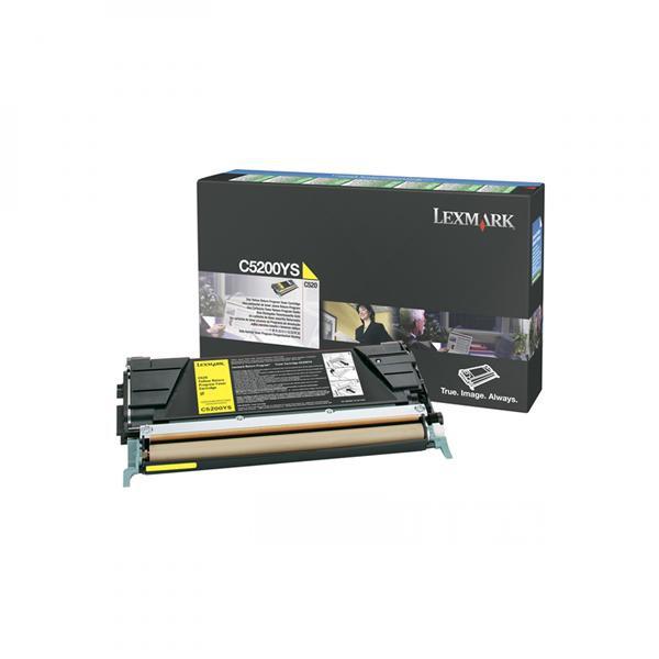 Lexmark originální toner C5200YS, yellow, 1500str., return, Lexmark C530
