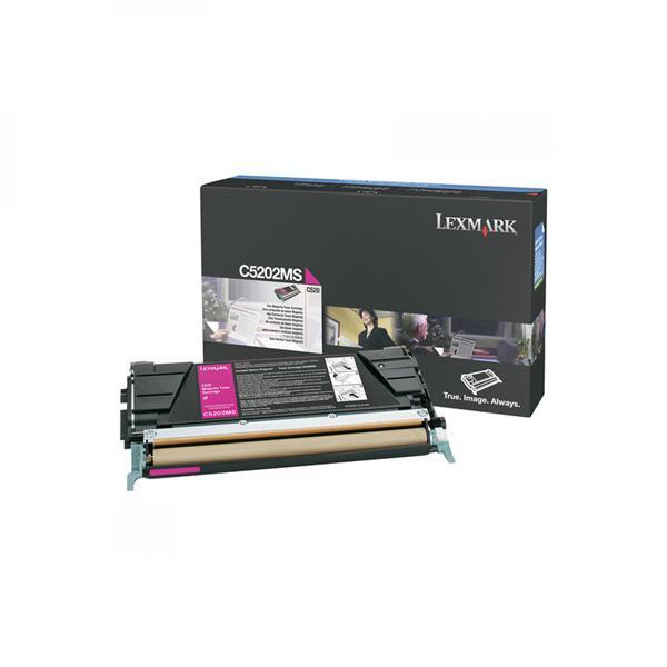 Lexmark originální toner C5202MS, magenta, 1500str., Lexmark C530