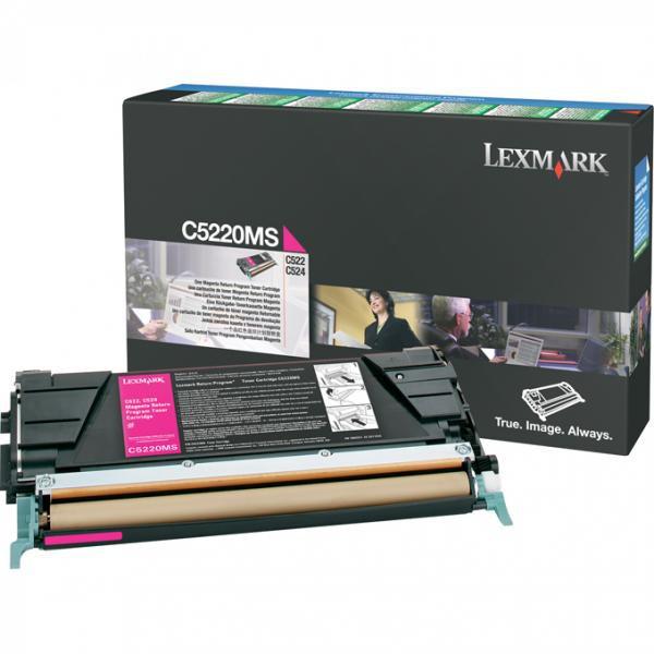 Lexmark originální toner C5220MS, magenta, 3000str., return, Lexmark C522n, C524
