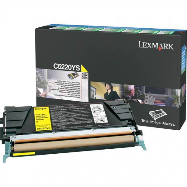 Lexmark originální toner C5220YS, yellow, 3000str., return, Lexmark C522n, C524