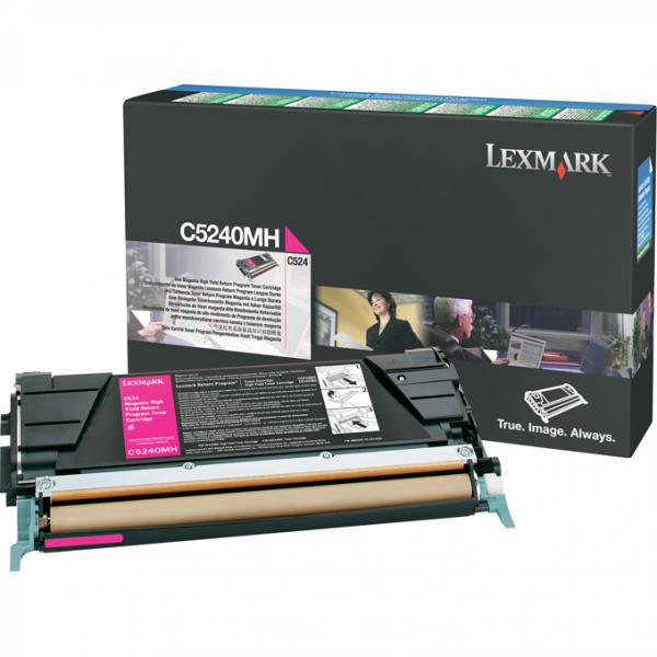 Lexmark originální toner C5240MH, magenta, 5000str., return, Lexmark C524