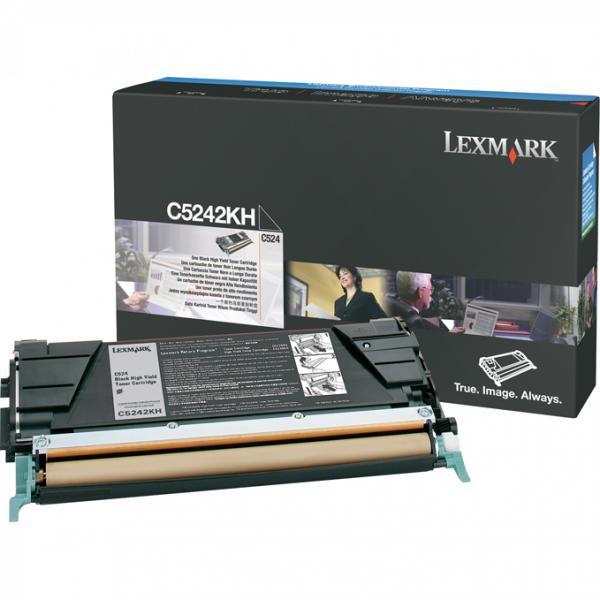 Lexmark originální toner C5242KH, black, 8000str., Lexmark C524