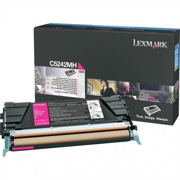 Lexmark originální toner C5242MH, magenta, 5000str., Lexmark C524