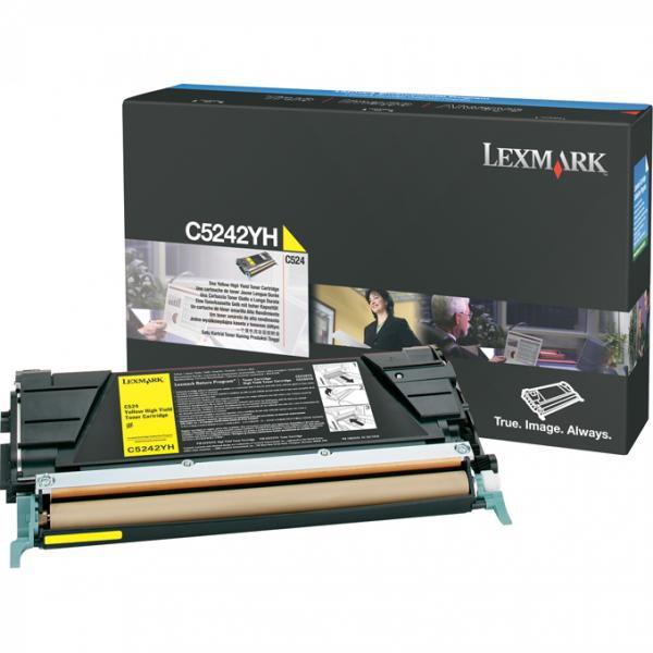 Lexmark originální toner C5242YH, yellow, 5000str., Lexmark C524