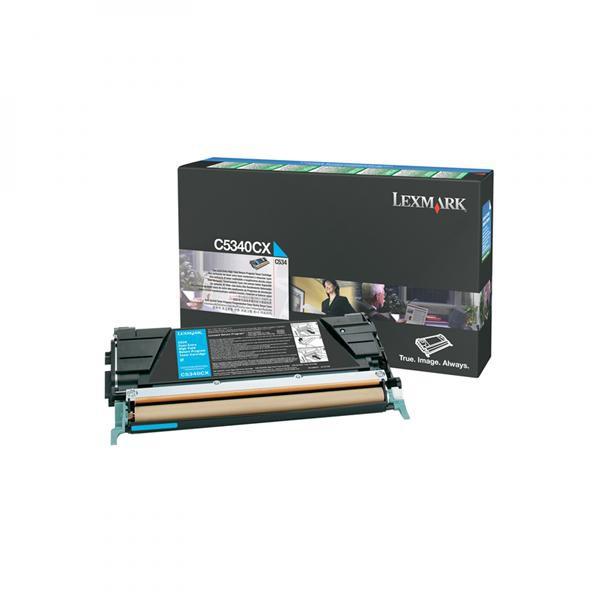 Lexmark originální toner C5340CX, cyan, 7000str., return, Lexmark C534x