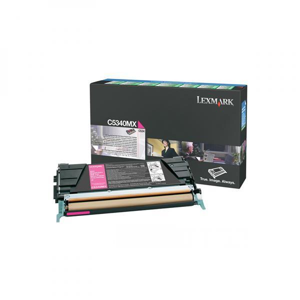 Lexmark originální toner C5340MX, magenta, 7000str., return, Lexmark C534x