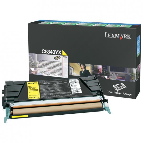 Lexmark originální toner C5340YX, yellow, 7000str., return, Lexmark C534x