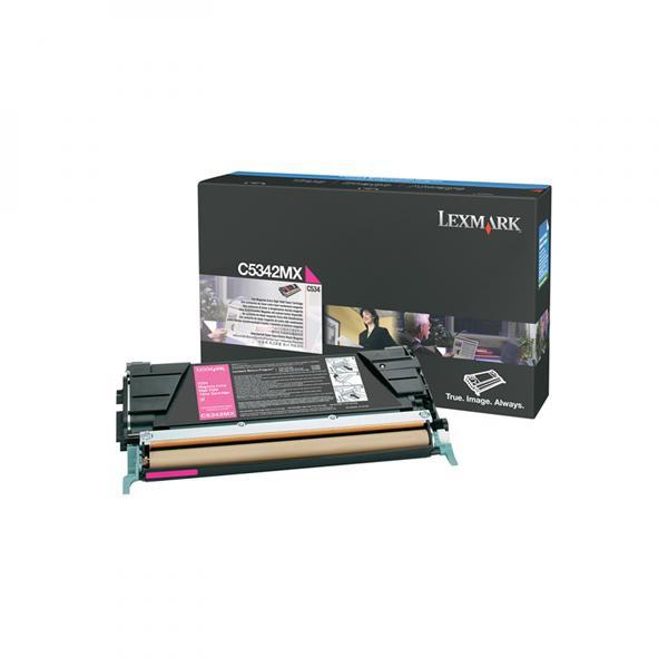 Lexmark originální toner C5342MX, magenta, 7000str., Lexmark C534x