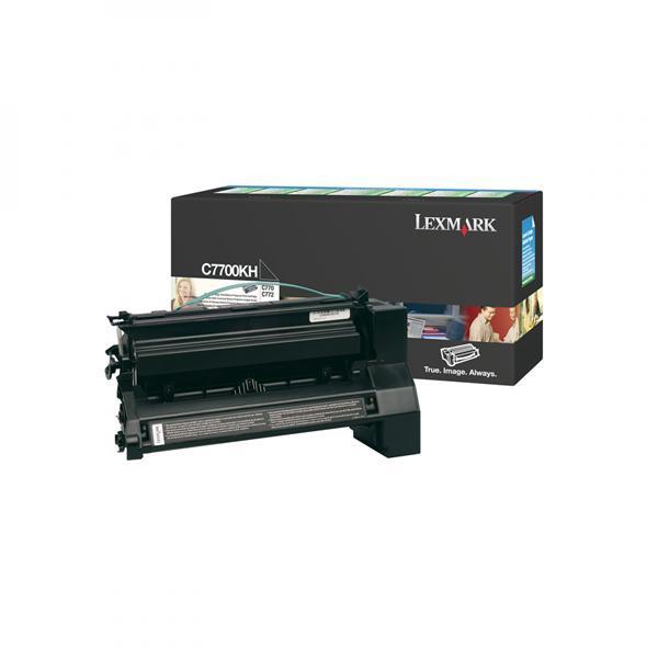 Lexmark C7700KH - originální toner, černý, 10000 stran