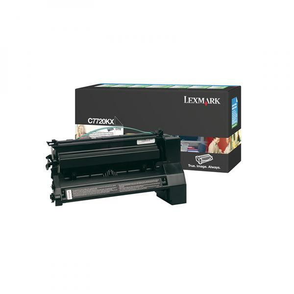 Lexmark originální toner C7720KX, black, 15000str., return, Lexmark C772
