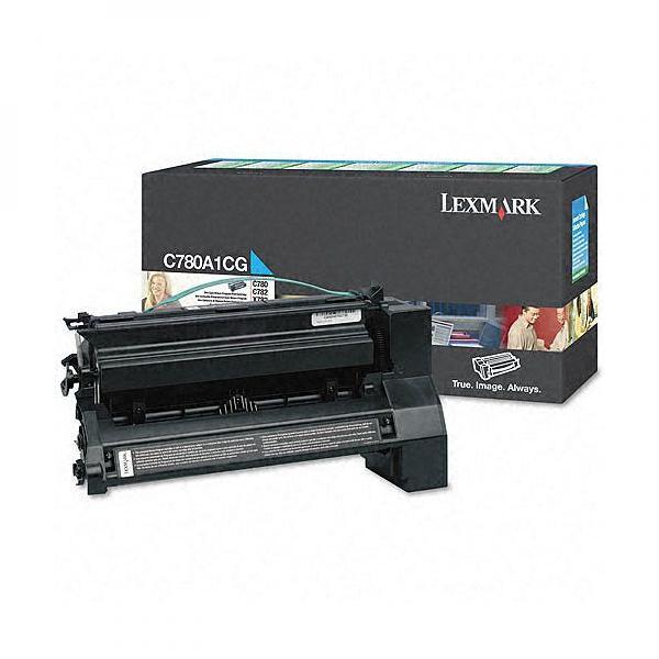 Lexmark originální toner C780A1CG, cyan, 6000str., return, Lexmark C780, C782