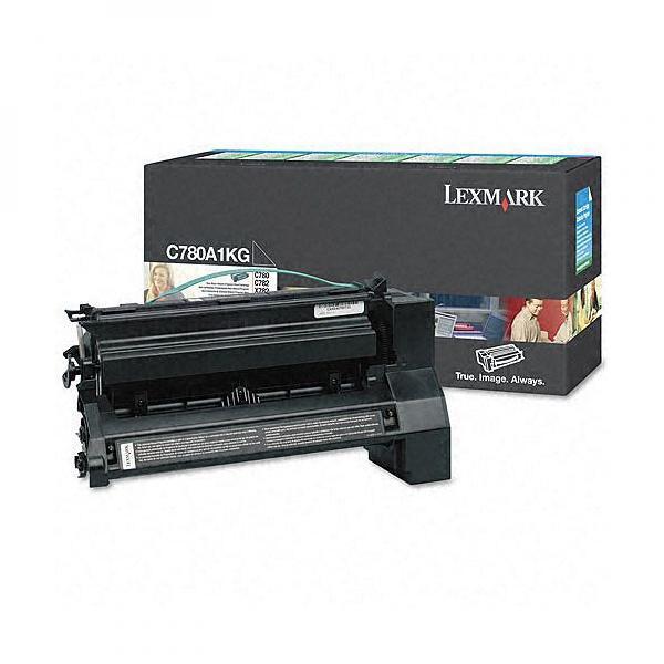 Lexmark originální toner C780A1KG, black, 6000str., return, Lexmark C780, C782