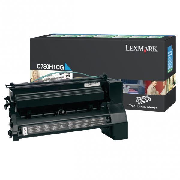 Lexmark originální toner C780H1CG, cyan, 10000str., return, Lexmark C780, C782