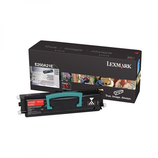 Lexmark originální toner E250A21E, black, 3500str., Lexmark E250, E35x