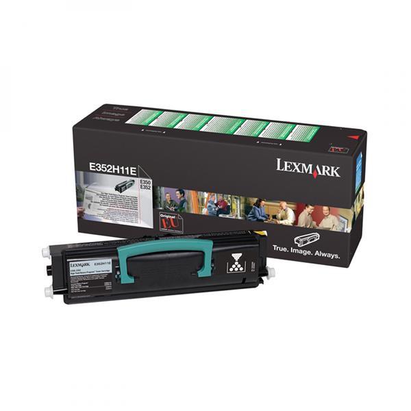 Lexmark originální toner E352H11E, black, 9000str., return, Lexmark E35x