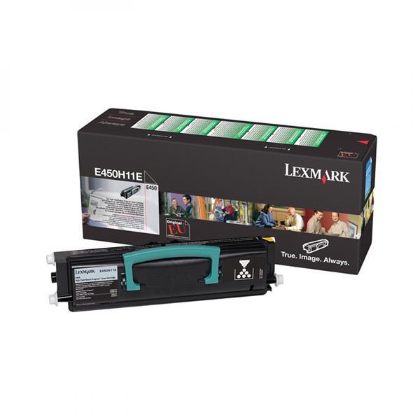 Lexmark originální toner E450H11E, black, 11000str., return, Lexmark E450