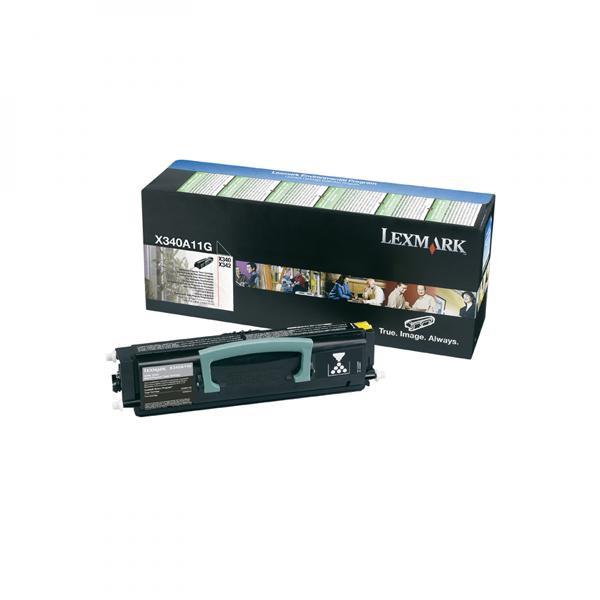 Lexmark originální toner X340A11G, black, 2500str., return, Lexmark X340