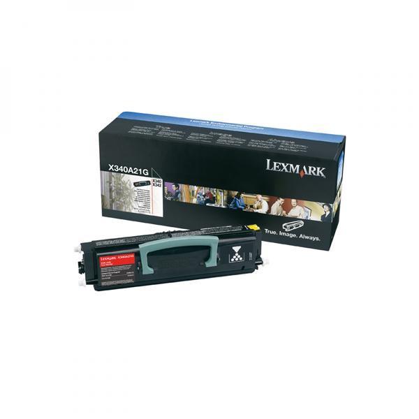 Lexmark originální toner X340A21G, black, 2500str., Lexmark X340